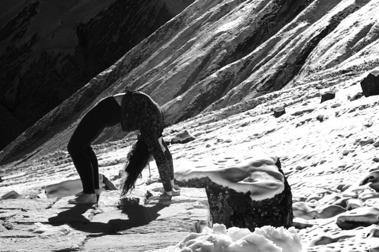 'Snowga' at Annapurna Base Camp, Nepal, 2014.