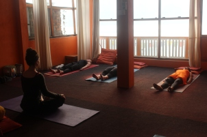 Teaching at Purna Yoga, Nepal